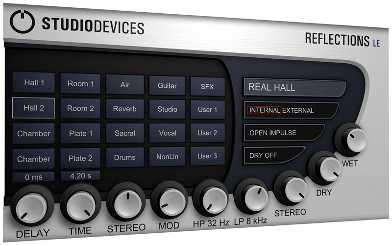 Studiodevices Reflections LE ревербератор VST