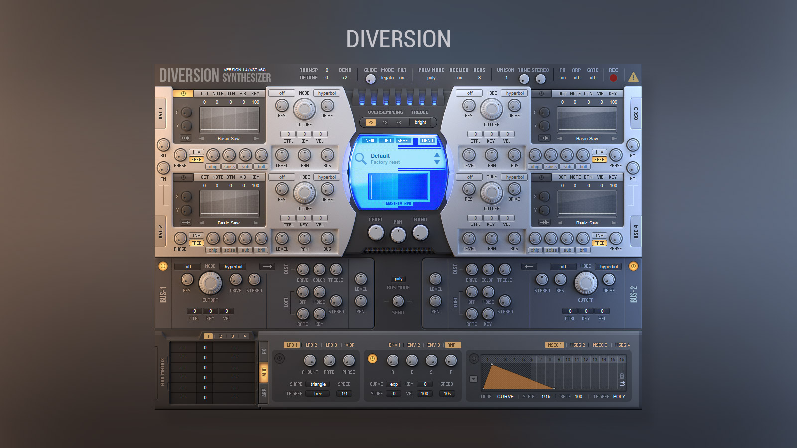 Dmitry Sches - Diversion v1.41 скачать VSTi-синтезатор