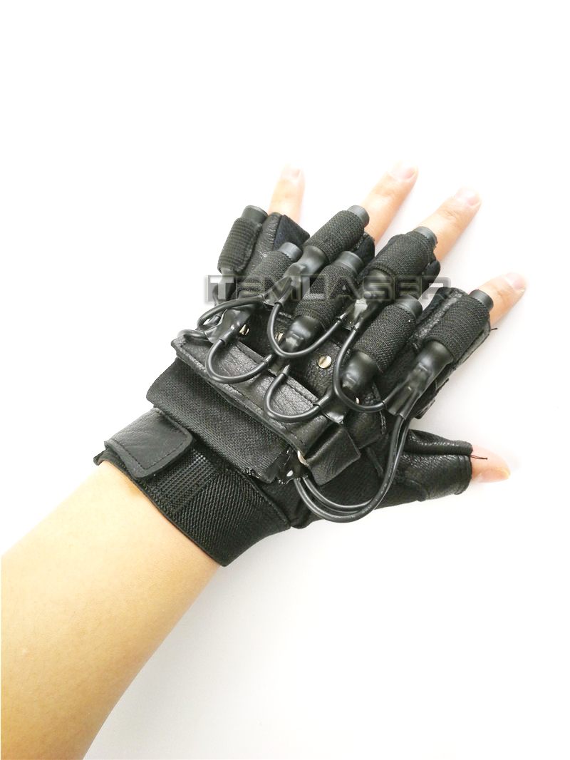 Laser gloves for night club