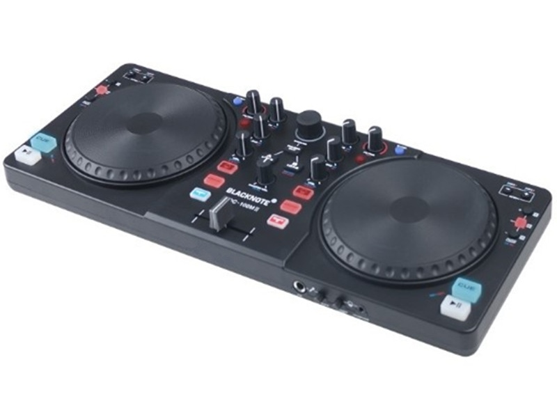 DJ controller is compact and high-tech