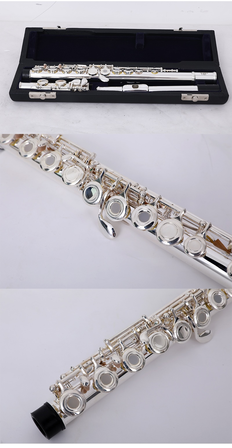 16 hole silver flute