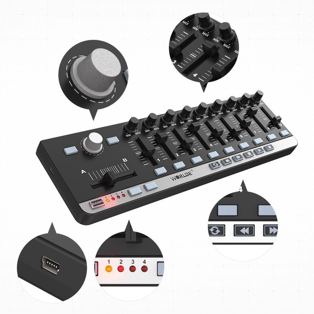 Worlde Easycontrol 9 portable controller