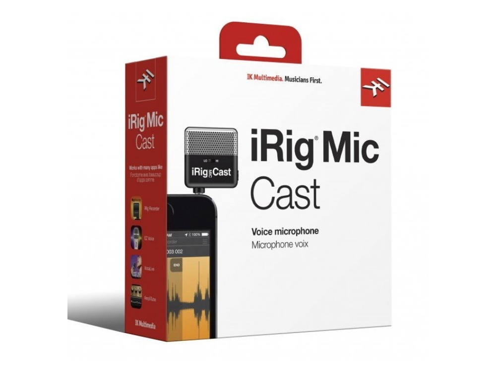 IK Multimedia iRig Mic Cast microphone for smartphone