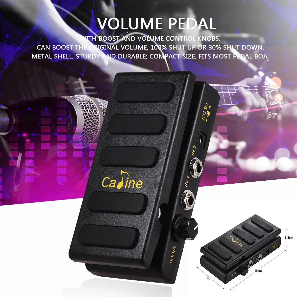 Caline CP-31P two-channel volume pedal